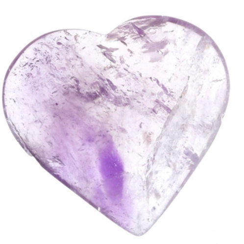 Amethyst Crystal Puffy Heart - Size #2 - 40 Mm (1'' To 2'')