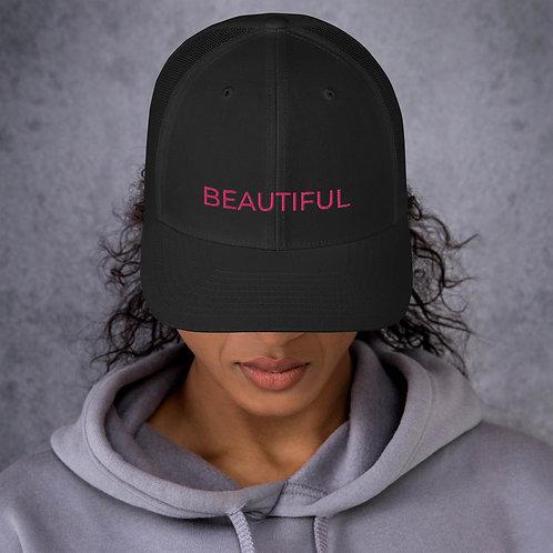 BEAUTIFUL EMBROIDERY Trucker Cap