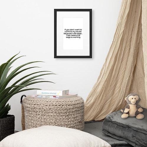 Sage Matte Paper Framed Poster With Mat