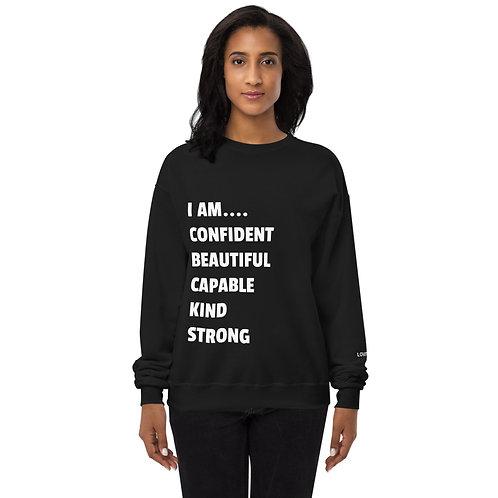 I am... Fleece Sweatshirt