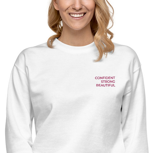 MOTIVATIONAL EMBROIDERY Unisex Fleece Pullover