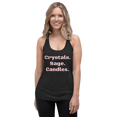 Crystals, Sage, Candles Women's Tank