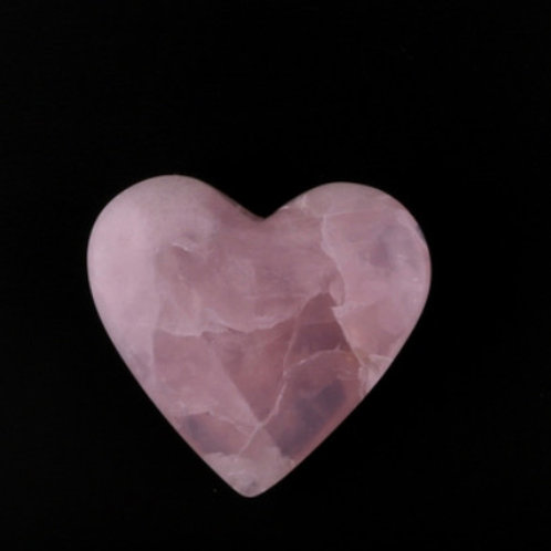 Rose Quartz Crystal Heart - Size #1 - 35 Mm X 30 Mm (1'' To 1 1/2'')