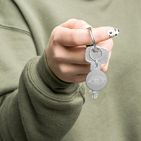 Lovefinity Evil Eye engraved key chain