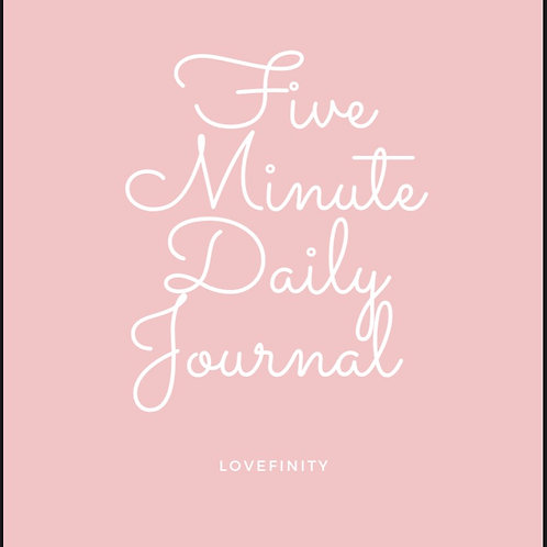 Five Minute Daily Journal - One Month