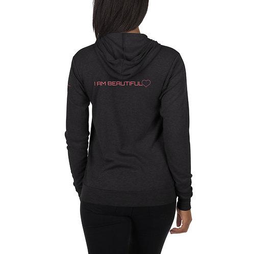 I am Beautiful Unisex zip hoodie