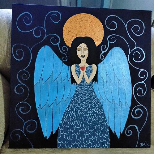 Angel in Blue Dress