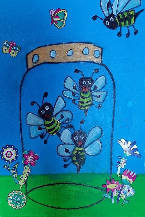 Bees in a Jar - Art Kit