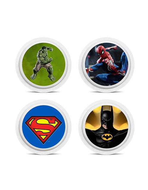 Super-Heróis 4 adesivos