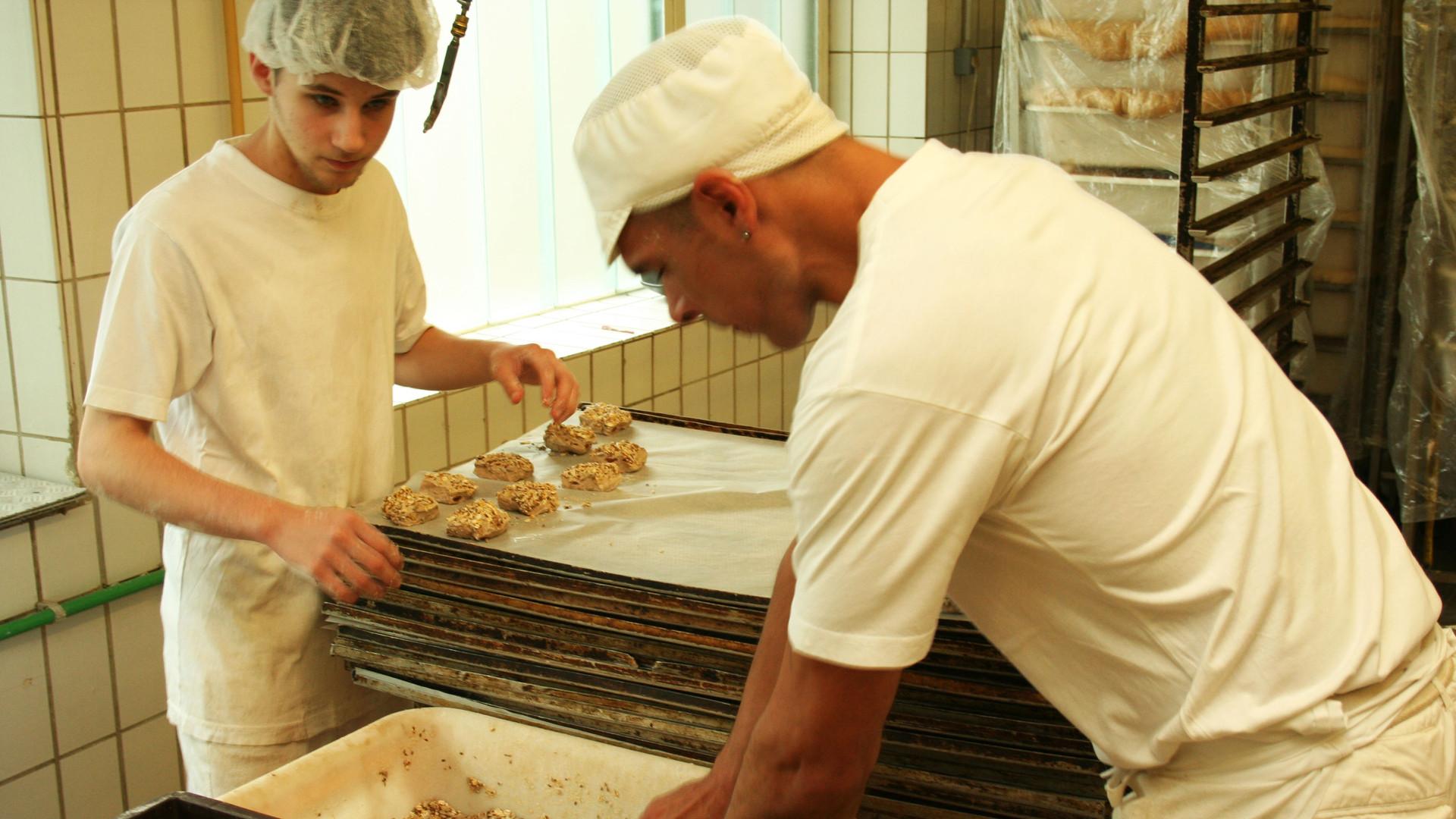 Bäckerlehrling in Action.