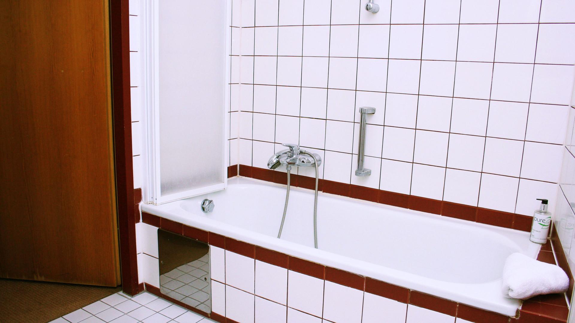 Badezimmer im Hotel Garni