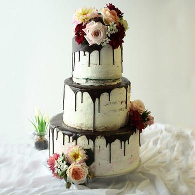 Naked-Cake Hochzeitstorte