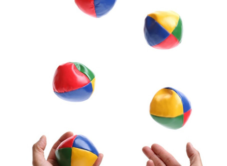 Here's the juggling bit