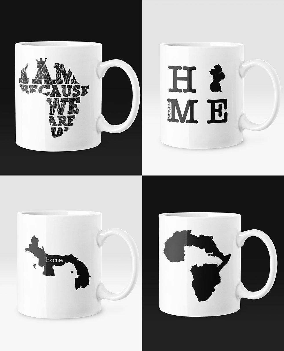 Africa Caribbean World Mugs Gifts