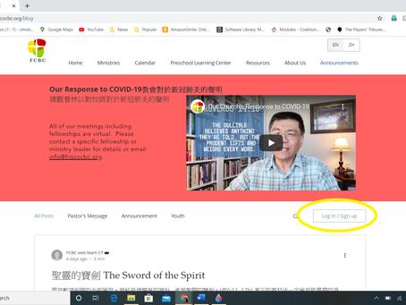 Website Updates 教會網站更新
