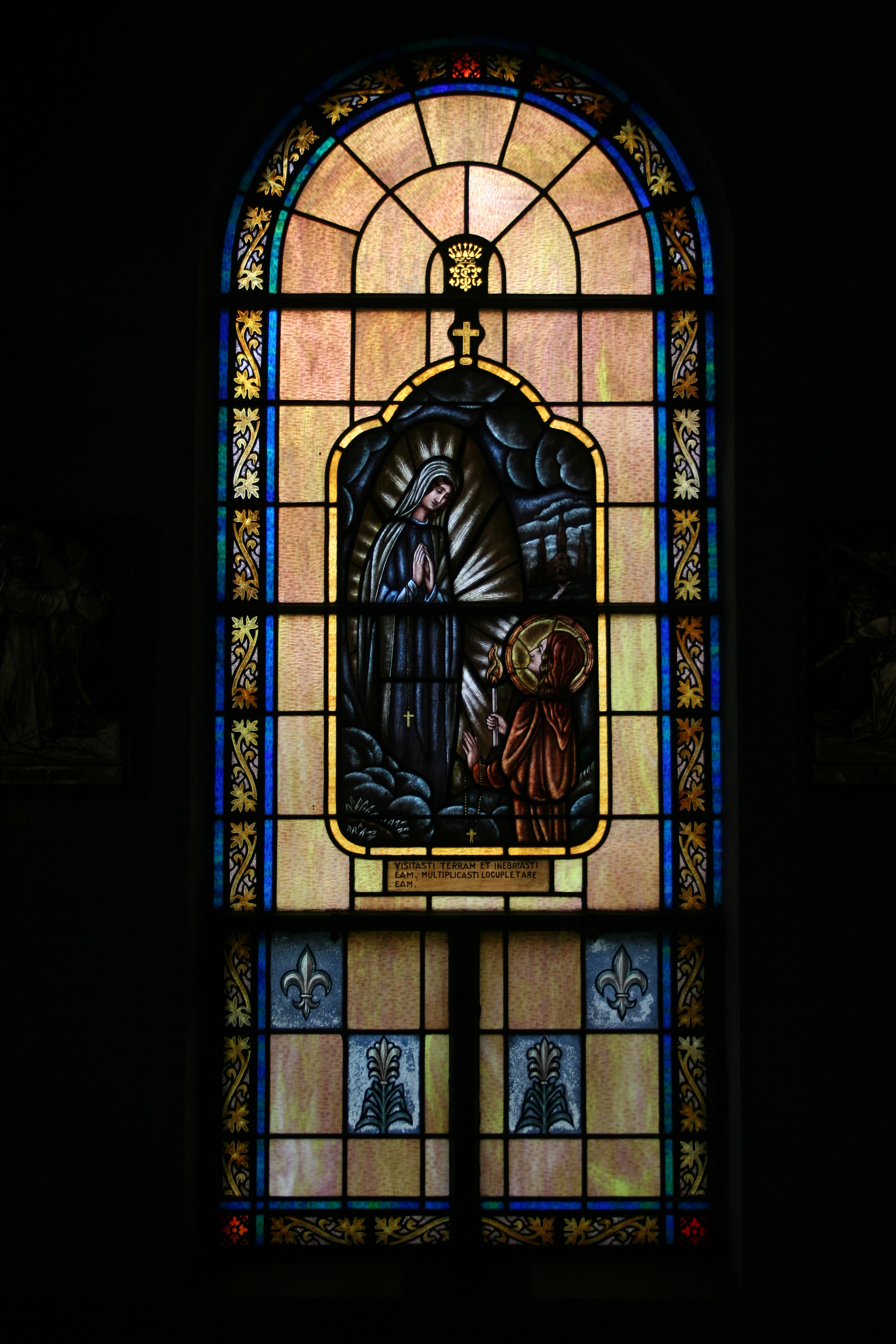 Our Lady of Lourdes Stained Glass