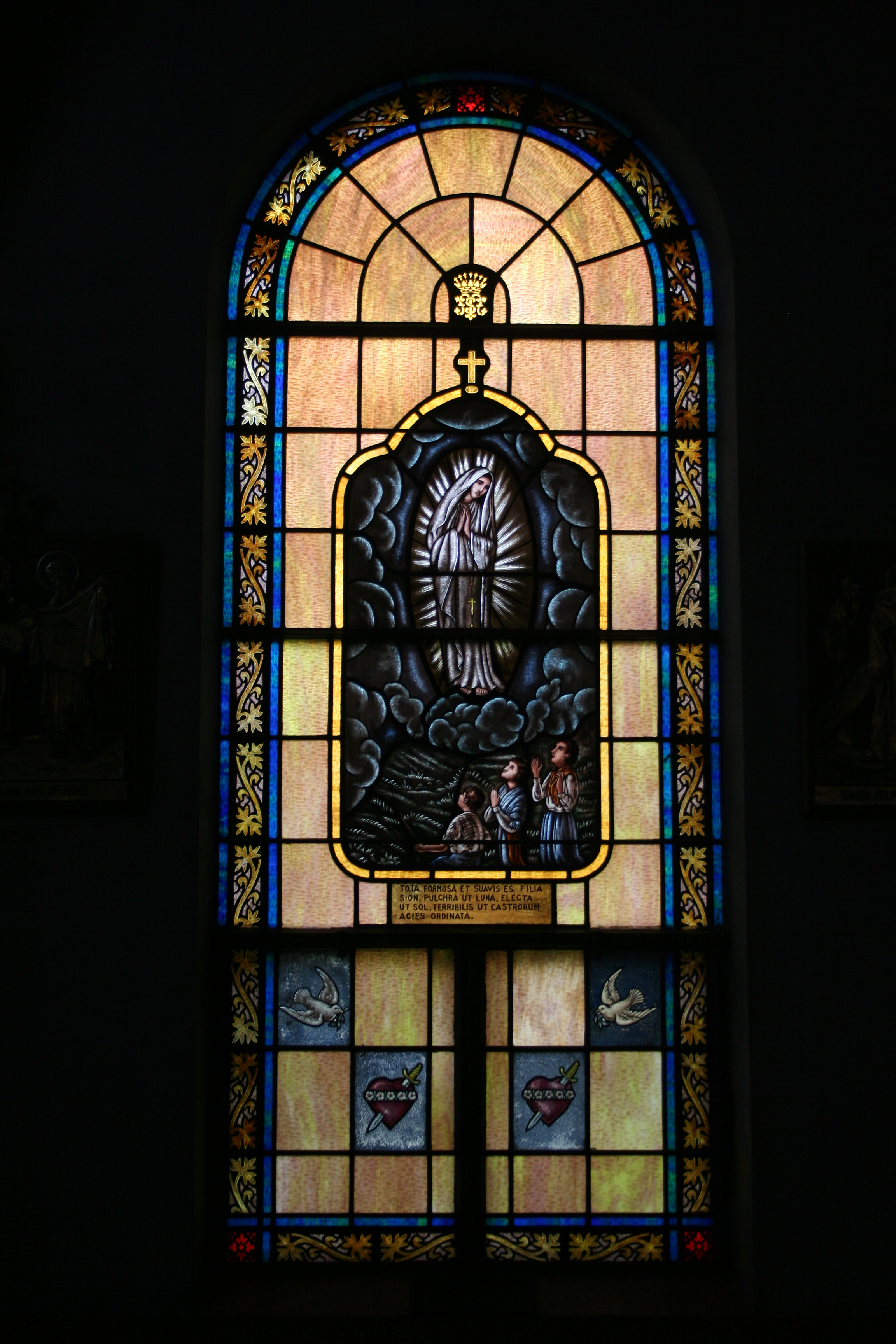 Our Lady of Fatima Stained Glass