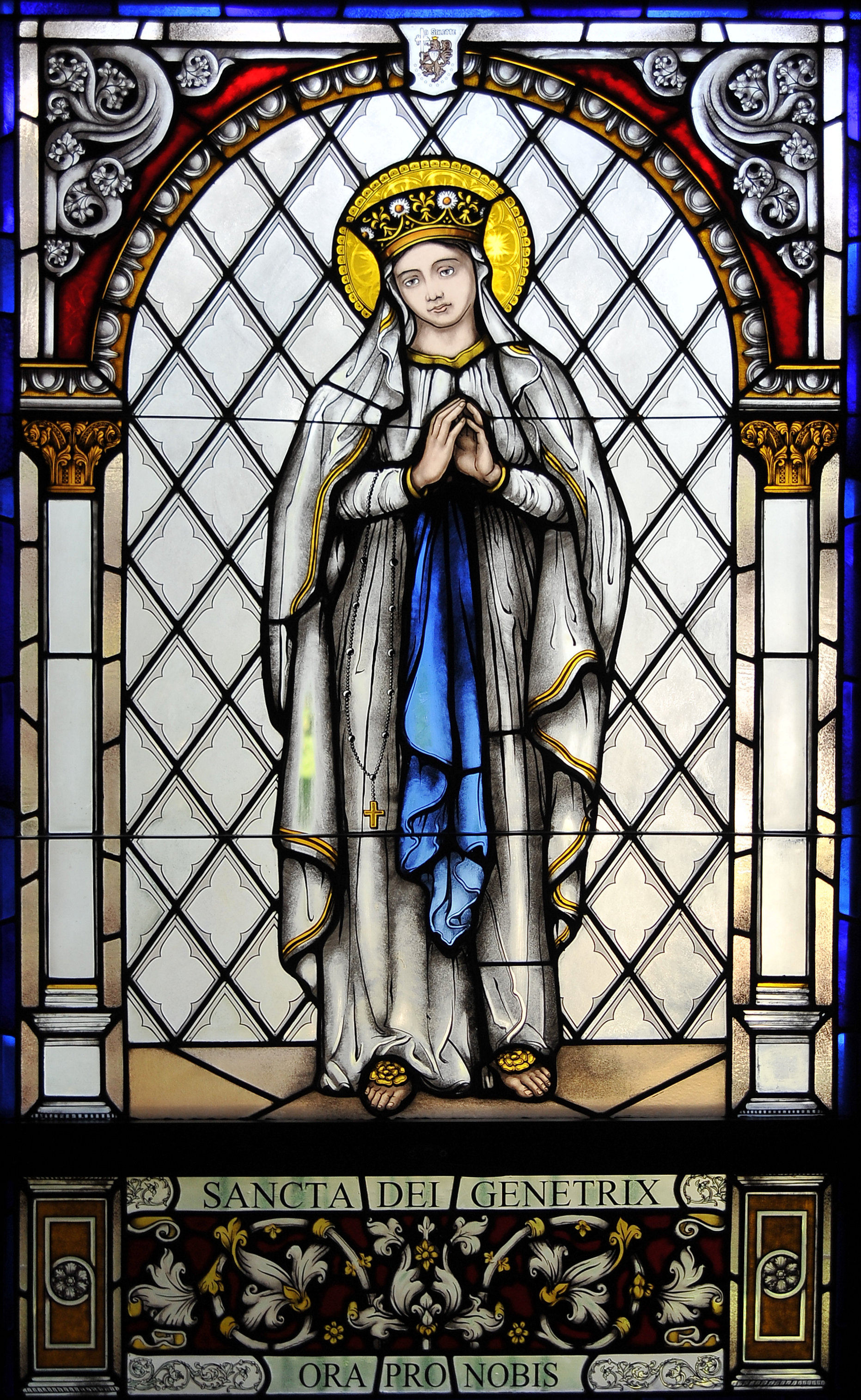 Blessed Mother Stained Glass