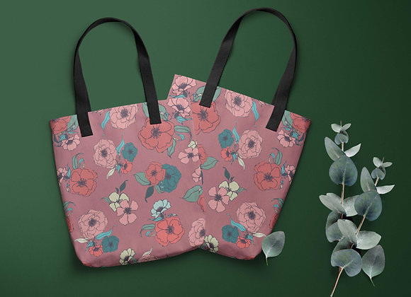Tote bag with Gorgeous Summer Rose design