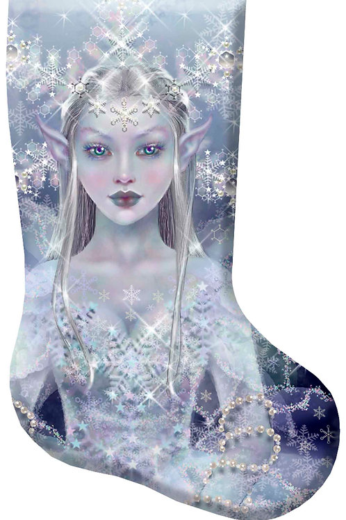 Snow Flake Christmas Stocking