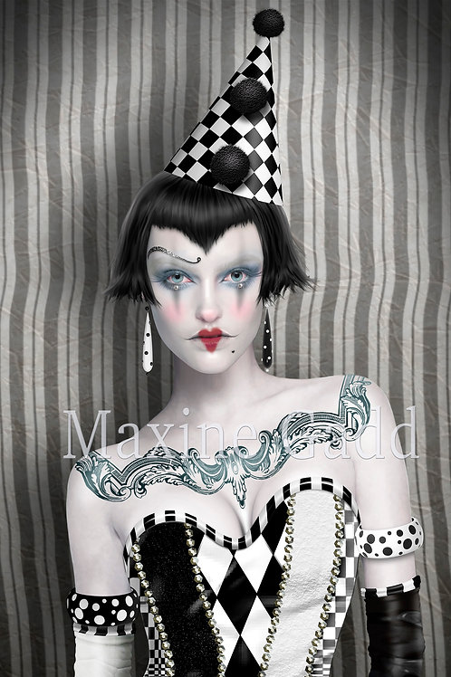 Mia (Cropped) Harlequin