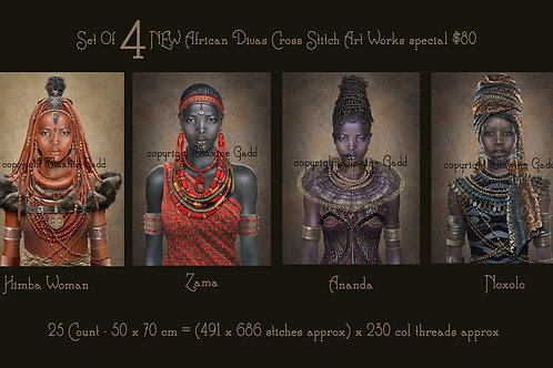 African Divas set of 4 (discounted)