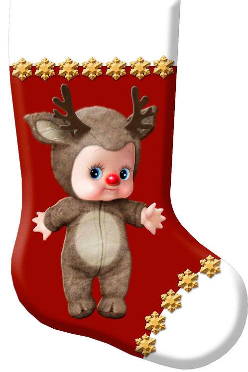 Cupie Reindeer Christmas Stocking