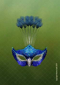 Peacock-mask