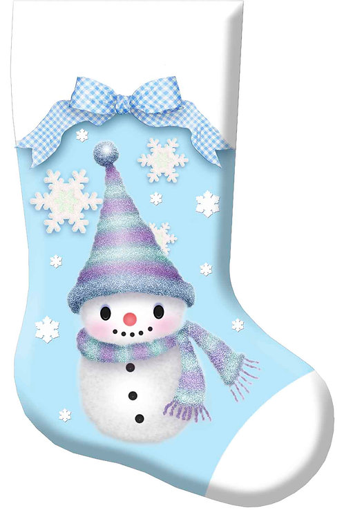Baby Christmas Boy Snow Man Stocking