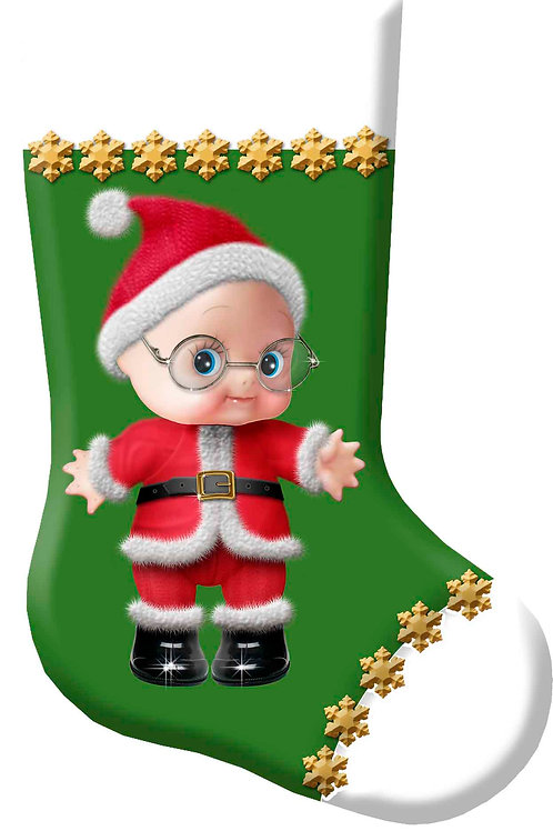 Cupie Santa Christmas Stocking