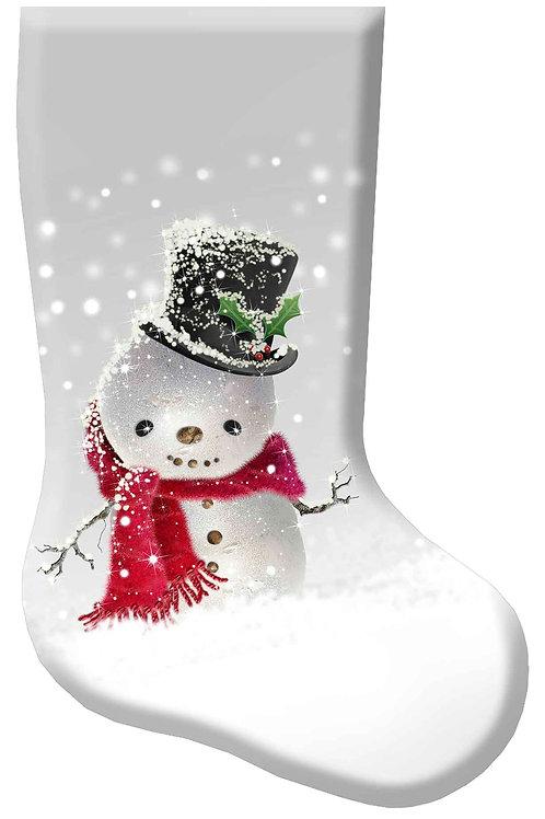 Snow Man Christmas Stocking