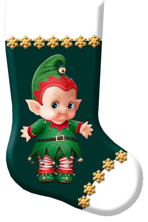 Cupie Elf Christmas Stocking