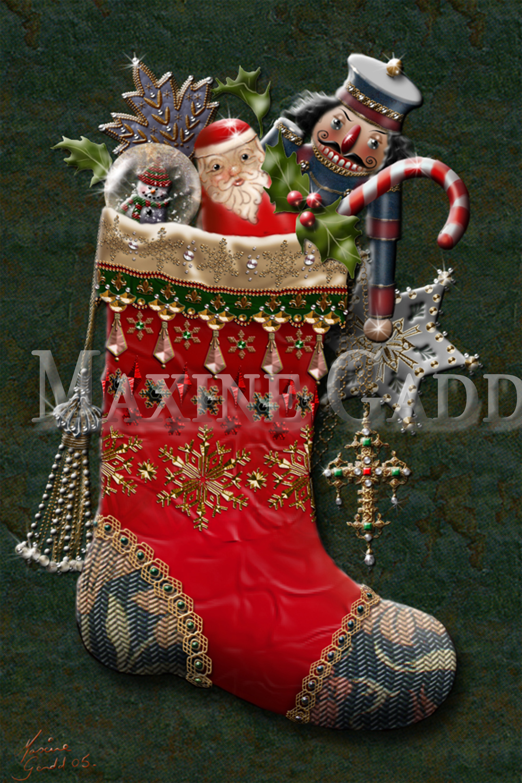 christmas stocking with toys