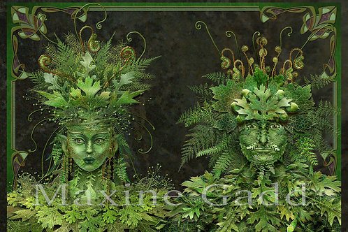 Green woman and man