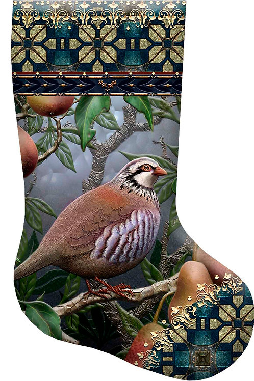 Partridge in a Pear Christmas Stocking