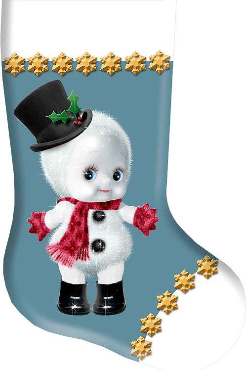 Cupie Snow Man Christmas Christmas Stocking
