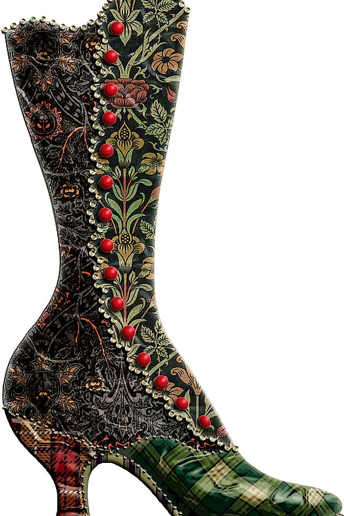 Victorian Boot Christmas Stocking