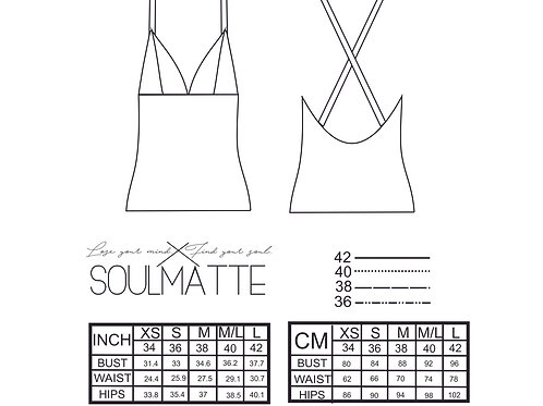 PDF top pattern, bralette pattern, blouse suitable for beginners, size S-M, inst