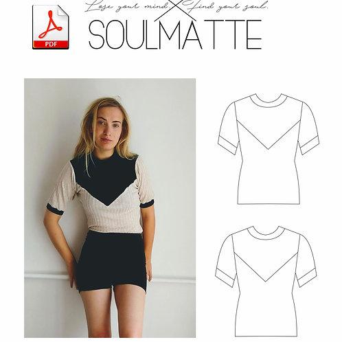 V neckline Shirts PDF pattern