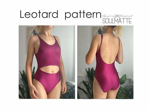 PDF instant download basic swimsuit pattern, one piece swimwear, basic bikini, B