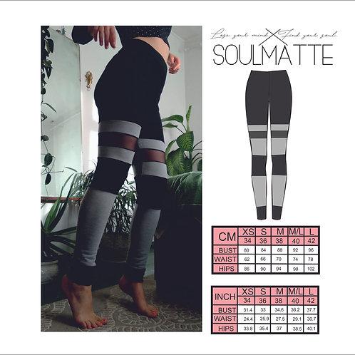 Sports leggings two color, instant download , PDF seamless pants, DIY yoga pants