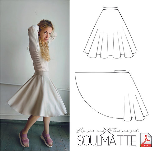 Basic sun skirt pattern