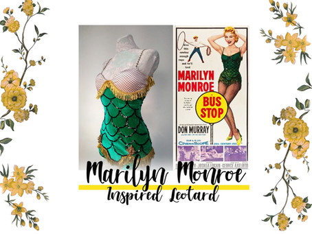 Sewing blog post about Marilyn Monroe costume, DIY swimsuit, historical cosplay.