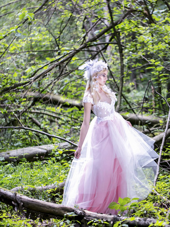 long pink fairy dress soulmatte wedding