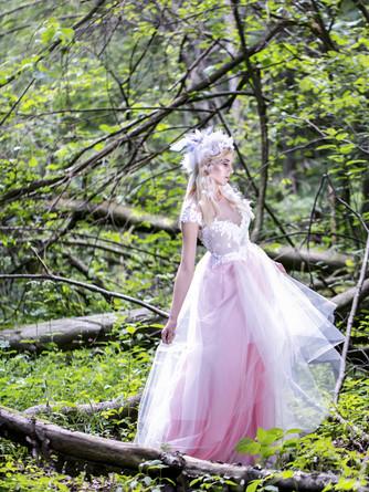 long pink fairy dress soulmatte wedding