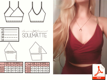 DIY fitted top pattern suitable for beginners