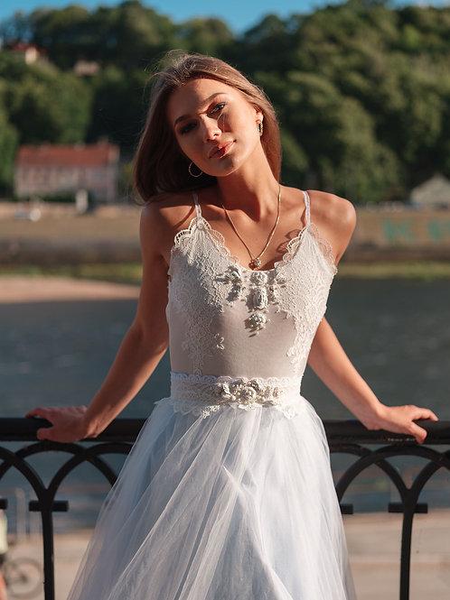"""Baby Blue dress """"Serin"""", Satin skirt, Tulle skirt, Bridal separates"""
