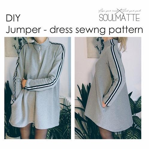 Jumper dress sewing pattern, Maternity jumper, Loose fitting jumper, Sport dress