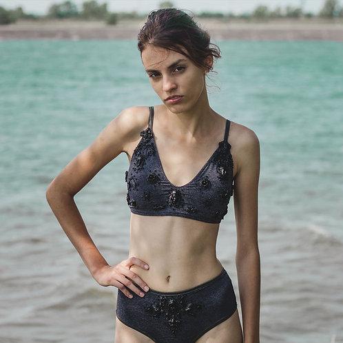 Gray swimsuit