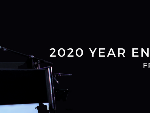 2020 Year End Message From The Chair
